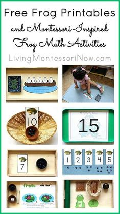 Free Frog Printables and Montessori-Inspired Frog Math Activities {Montessori Monday}
