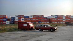 Containerwoningen in Amsterdam-Noord.