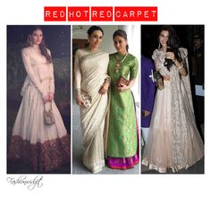 """""""Red Hot Red Carpet: Best in Traditional Wear Contenders (2015)"""" by fashionwidget on Polyvore featuring Masaba, fashionista and bollywood"""
