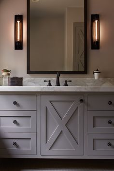 Simple clean lines cabinetry dark plumbing fixtures color  ADL: Interior Designer San Francisco