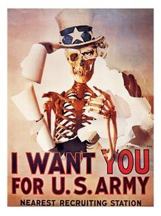 I Want You for U. Army poster is an anti- Vietnam war propaganda poster. The poster is based on James Montgomery Flagg's nationalist original poster . I Want You Poster, Communist Propaganda, Protest Posters, Mass Communication, Political Art, Vietnam War, Cold War, Us Army, Things I Want