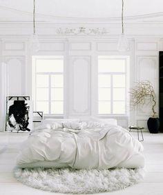 """dustjacketattic: """"white bedroom """""""