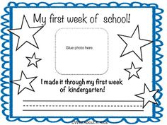 First Week of Kindergarten Freebie and Fun Pics Cute picture ideas