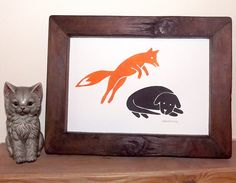 The Quick Brown Fox Jumps Over the Lazy Dog A4 Relief Print £15.00