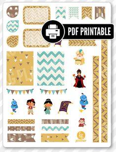 Genie Friends Decorating Kit PDF PRINTABLE Planner Stickers for Erin Condren Planner, Filofax, Plum Paper