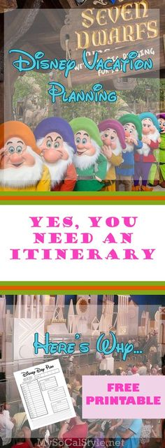Yes! You NEED an itinerary when you visit Disney World! It's the one thing you absolutely cannot leave home without! Here's how to create yours, with a FREE Template! | #Disney #DisneyWorld #DisneyPlanning #Itinerary #Free #Printable #Template