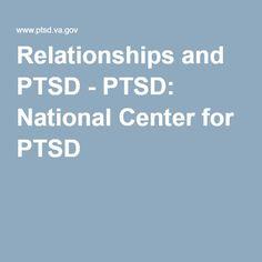 Relationships and PTSD - PTSD: National Center for PTSD