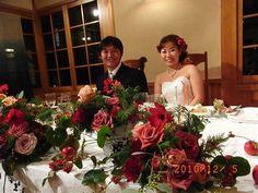新郎新婦様からのメール 愛情 すいぎょく様への装花 : 一会 ウエディングの花