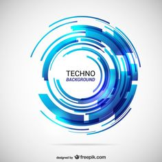 Abstract techno background Free Vector