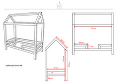 Wij zijn op zoek naar iemand die voor ons dit bedhuisje (zie afbeeldingen) kan maken. Lakken doen we zelf. Bedmaat tekening is 70x150, wij willen graag 70x160. Wie maakt ons meisje blij met een nieuw bed?