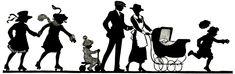 vintage silhouettes | free vintage clipart, family silhouette, vintage family image, old ... Silhouette Pictures, Silhouette Clip Art, Vintage Silhouette, Decoupage, Family Images, Free Graphics, Card Sketches, Vintage Ephemera, Retro