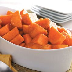 Glazed Sweet Potatoes Recipe -Fresh sweet potatoes Mom grew disappeared fast at our family table when she served them with this easy, flavorful glaze. She still makes them this way, and now they've become favorites with her grandchildren as well! —Rosemary Pryor, Pasadena, Maryland