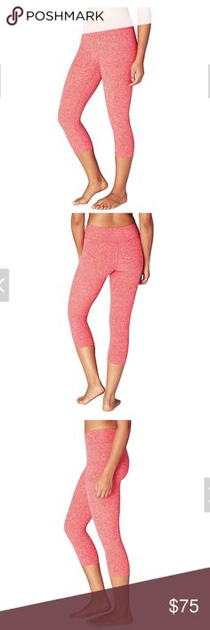 NWT Beyond Yoga Spacedye Capri NWT Beyond Yoga Spacedye Capri Leggings. Size Small. Sold Out on Beyond Yoga Website!! Color: Sunset Rose/Coral Reef.  ACCEPTING REASONABLE OFFERS Beyond Yoga Pants
