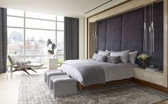 Contemporary Bedroom in New York, NY by Amy Lau Design