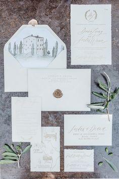 Tuscan inspired wedding invitation | Tuscan wedding theme | fabmood.com #weddinginvites #tuscanywedding #wedding