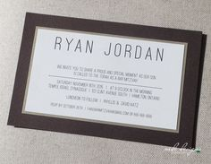 Modern wood grain textured Bar Mitzvah Invitation