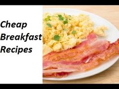 Cheap Breakfast Recipes Simple And Easy Egg And Bacon Recipe   Breakfast...