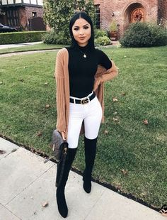 110 Trendy Fall Outfit Ideas to Inspire Yourself Outfit Outfit Casual Fall Outfits You Must Buy Now. Women's Fashion. Chic And Comfy Trendy Fall Outfits, Cute Spring Outfits, Winter Fashion Outfits, Fall Winter Outfits, Look Fashion, Autumn Fashion, Fashion Women, Feminine Fashion, Black Outfits