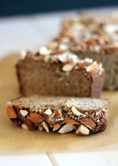 Almond Banana Bread | A delicious recipe that's gluten-free, refined sugar free, and paleo.