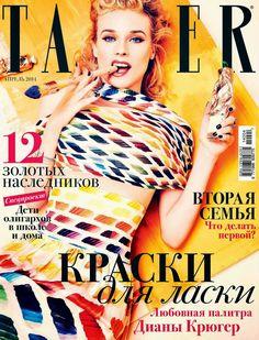 Diane Kruger in Chanel for Tatler Magazine Russia April 2014 by Ellen von Unwerth