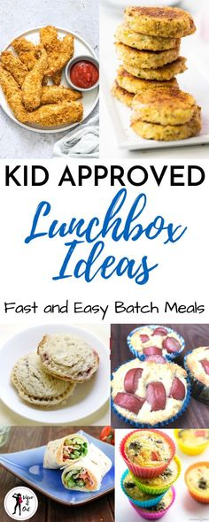 These school lunch ideas are all fast and easy and perfect for kids and for teens. Even toddlers and picky eaters will be pleased with these creative lunchbox meals. These lunchbox ideas for kids are quick batch cooking recipes that you can make ahead for Easy Meal Prep Lunches, Easy School Lunches, Kids Lunch For School, Prepped Lunches, Lunch Box Recipes, Baby Food Recipes, Cooking Recipes, Keto Recipes, Yummy Recipes