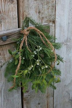 Mistletoe and greenery. Festive and perfect for Yuletide!