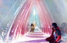 Con esta imagen comentamos uno de los usos del agua en estado sólido como es la construcción de un iglú, haciendo la aclaración de que este esta decorado con luz y color por eso la imagen tan atractiva