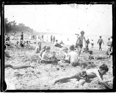 Some leisure time for the factory workers at Long Branch Beach, New Jersey. Photography Pics, Types Of Photography, Aerial Photography, Landscape Photography, Vintage Beach Photos, Vintage Photographs, New Jersey Beaches, Nostalgic Images, Everything