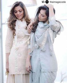 the design on beige one Powder blue Gita Patti floral designs Ethnic Outfits, Ethnic Dress, Indian Outfits, Indian Designer Outfits, Designer Dresses, Pakistani Dresses, Indian Dresses, Ethnic Fashion, Indian Fashion