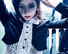 Park Shin Hye Does Dark in Paris For W Korea's May 2016 Issue | Couch Kimchi