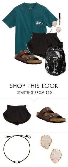 """""""School"""" by nbrooke1009 on Polyvore featuring Vineyard Vines, Cosabella, Birkenstock, Kendra Scott and The North Face"""