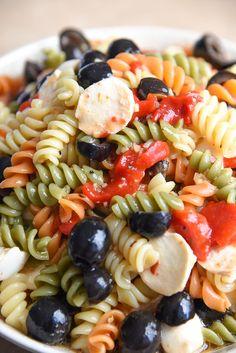 tri color pasta salad mini chef mondays cold pasta salad recipe tri color rotini pasta recipes pasta salad with italian dressing easy