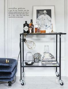 "Explore our internet site for additional relevant information on ""bar cart decor inspiration"". It is an exceptional place to find out more. Bar Cart Decor, Bar Cart Styling, Mini Bars, Home Interior, Interior Styling, Interior Decorating, Decorating Ideas, Decoration Inspiration, Interior Inspiration"