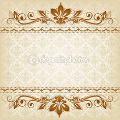 Vector vintage floral background with decorative flowers for design Vintage Floral Backgrounds, Flower Backgrounds, Art Design, Graphic Design Art, Vektor Muster, Frame Floral, Wedding Invitation Background, Frame Template, Decoupage Paper
