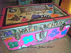 Camp Waldemar summer camp custom trunk. 219539d28b934