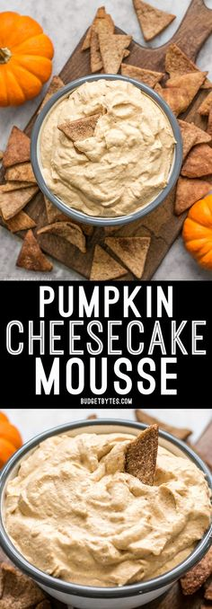 This Pumpkin Cheesecake Mousse is a super light and fluffy dessert packed with fall spices and just enough sweetness to balance the pumpkiny flavor. @budgetbytes