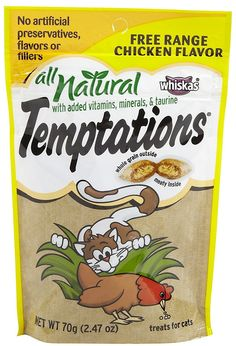 Whiskas All Natural Temptations - Free Range Chicken - 2.47 oz *** You can find out more details at the link of the image.
