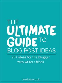 Okay, I can't be the only one who lacks blog posts ideas. I spend more time thinking of things to blog about than I actually spend blogging. This is a problem, don't you think? So I've searched around and created a list of ideas for us to blog about!