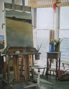 Finish my wee little art studio in my spare room. I only wish it looked out over the ocean. This would be fabulous. (Seascape Artist Anne Packard in her Cottage by the Beach)