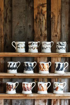 Dog Coffee, Large Coffee Mugs, Dachshunds, Pugs, Dog Lover Gifts, Dog Lovers, Emma Bridgewater Pottery, Hand Painted Mugs, Different Dogs