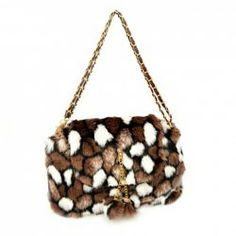 $12.60 Stylish Women's Shoulder Bag With Faux Fur and Color Block Design