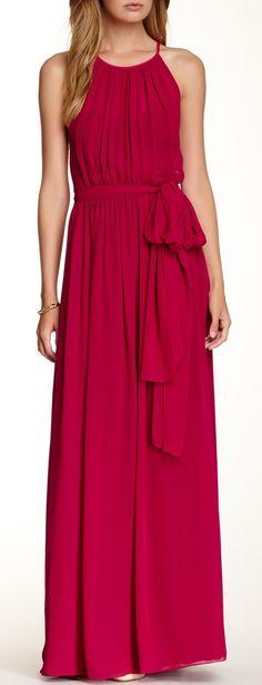 Jill Jill Stuart Halter Neck Belted Gown