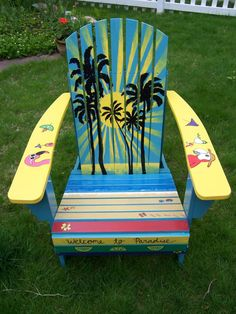 Margaritaville Adirondack Chair, I gotta try painting a few of these for the boathouse