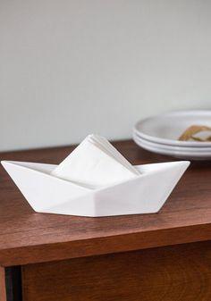 Boy oh Buoy Napkin Holder. Let this handy napkin holder do all the serviette-folding for you! #whiteNaN
