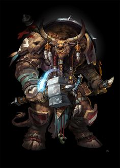 uncle Tauren, jojo so on ArtStation at http://www.artstation.com/artwork/uncle-tauren