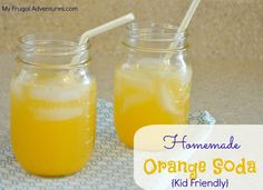 "Quick and easy ""orange soda"" recipe. Kid friendly! #cleaneating"
