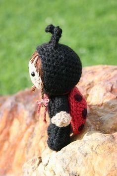 Crochet Pattern- Laura Beth dressed as a ladybird amigurumi doll. $4.50, via Etsy.