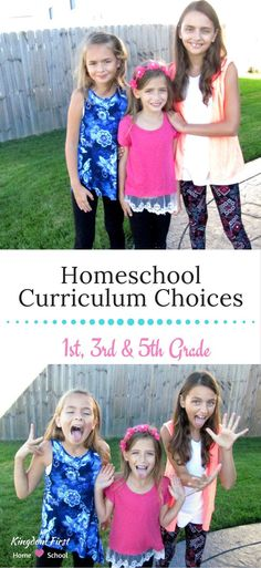 Drum Roll Please....Announcing our homeschool curriculum choices for 1st, 3rd and 5th grade.