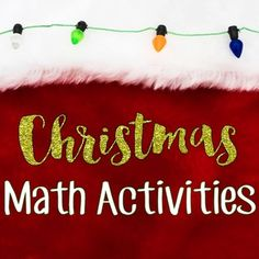 Christmas Math Activities - Ashleigh's Education Journey  Use as a Christmas center or as 9 stand-alone Christmas activities! Product includes 9 different Christmas math activities including incorporating art and glyphs. Product includes teacher directions, centers grid, and recording sheets and student directions for all 9 activities. Skills and concepts practiced are: problem solving, computation, measurement, geometry, data analysis, and more.
