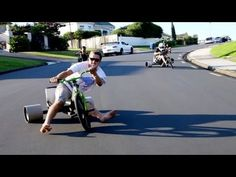 Trike Drifting Is the Best Thing to Ever Happen on Three Wheels but wear shoes please